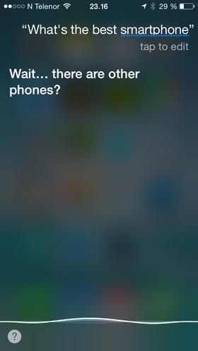 Siri er lykkelig uvitende om Android og Windows Phone.