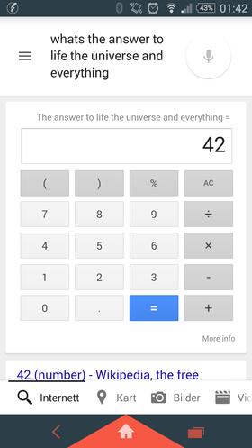 Google Now vet svaret på alt. Sånn omtrent.