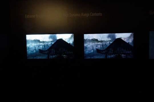 Her viser Panasonic frem hvordan HDR-bilder kan bli. Til venstre er konseptmodellen.
