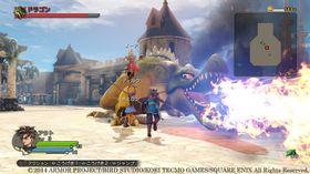 Skjermbilete frå den japanske versjonen av Dragon Quest Heroes.