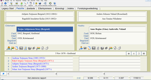 Ved hjelp av et program som Legacy kan du holde orden på slekten. Dette er versjon 7.5.