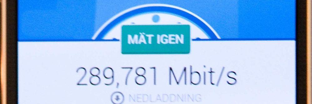 Vi oppnådde nesten 300 Mbps i NetComs nye nett