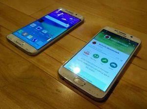 Dette er Samsung Galaxy S6 Edge og Galaxy S6.