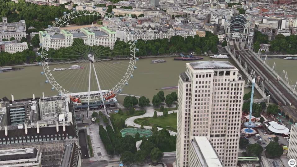 Et av Londons store landemerker, pariserhjulet London Eye.