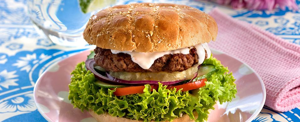 Hamburger med dressing