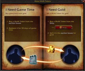 En enkel forklaring av «WoW Tokens» (Foto: Blizzard Entertainment).