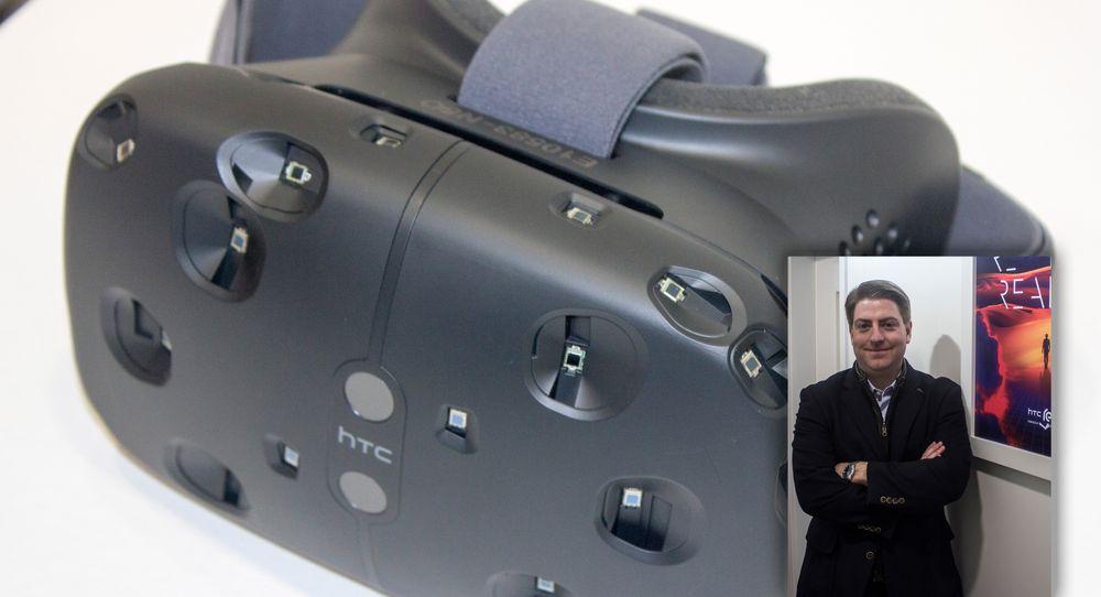 Daniel O'Brien er sjef for nye produktgrupper hos HTC, og mannen med ansvaret for Re Vive-brillene. Vi slo av en prat etter en imponerende demonstrasjon her i Barcelona.