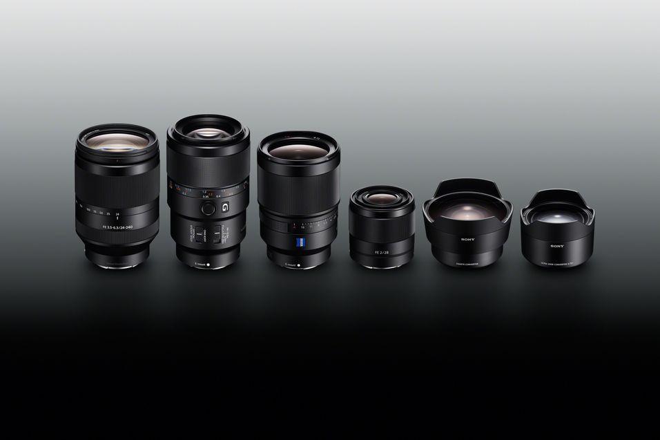 Sony lanserer 4 objektiver og to konverteringslinser