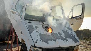 Laserstråler kan være kraftige saker. Dette bildet er Lockheed Martins test av et laservåpen tidligere i år.