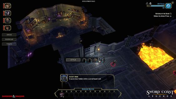 Spillederen kan blant annet gjøre døren inn til skattekammeret hemmelig slik at eventyrerne må lete for å oppdage den. (Bilde: n-Space).