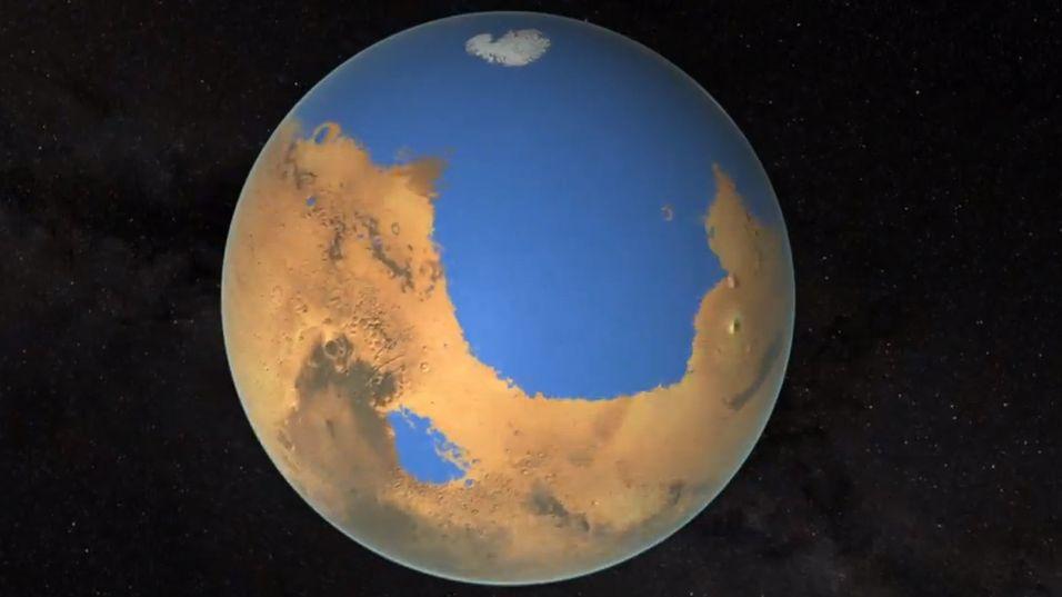 Så mye av planeten kan ha vært dekket av vann.
