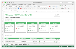 Excel 2016 for Mac.