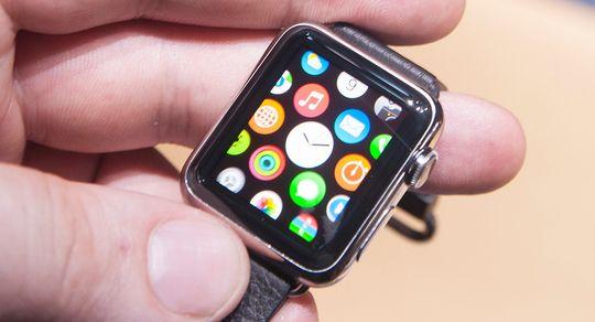 Bildet er fra da vi fikk en «sniktitt» av Apple Watch i fjor.