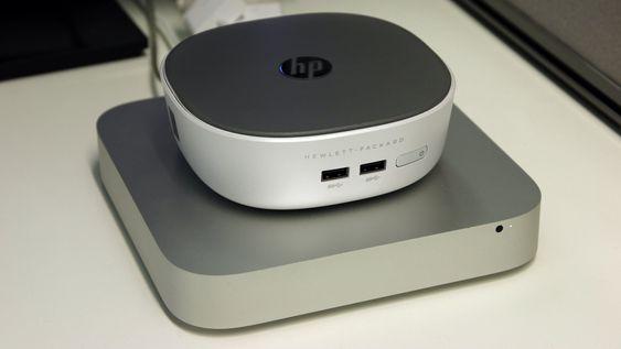 For en del vil nok valget stå mellom HP Pavilion Mini Desktop og Apple Mac mini.
