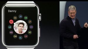 Apples Tim Cook viste frem den nye Apple Watch-klokken.
