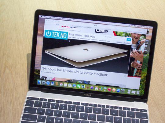 En kompakt Mac som viser et bilde av en kompakt Mac.