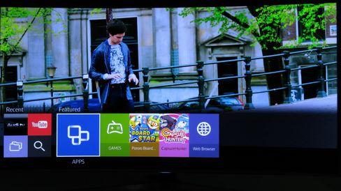 De funksjonene du bruker mest kommer opp i bunnen av skjermen når du trykker på Smart Hub.