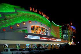 India er en storprodusent av filmer. Her en kino i byen Jaipur i nord-India.