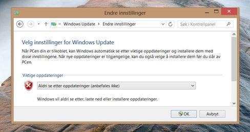Det er ikke alltid det passer så godt at Windows Update begynner å laste ned store oppdateringer.