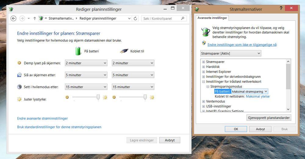 Du kan ofte gjøre strømplanene i Windows enda bedre ved å sjekke alle de detaljerte innstillingene.
