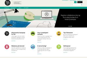 Slik ser det nye nettstedet ut.