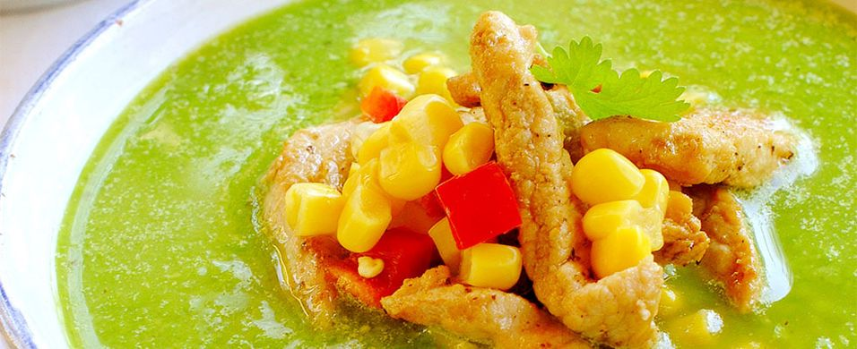 DAGENS RETT: Denne suppen kan lages med eller uten kjøtt