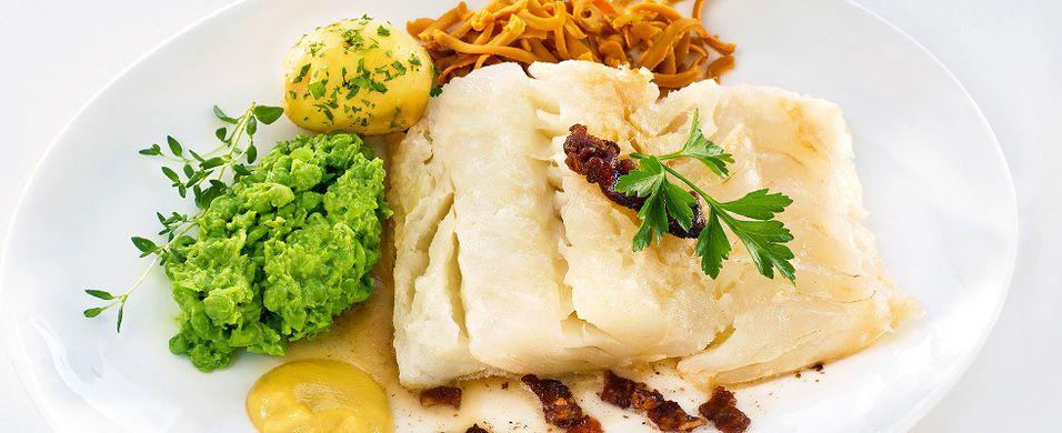 JULEMAT: Verdens beste ertestuing til lutefisken