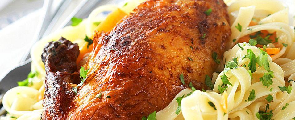 DAGENS RETT: OL-oppskrift: Grillet kylling med persillepasta