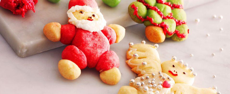 JULEMAT: Bak disse morsomme julekakene