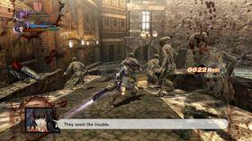 Zombieslakt i Onechanbara Z2: Chaos.