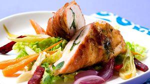 Fyll kyllingfileten med godsaker