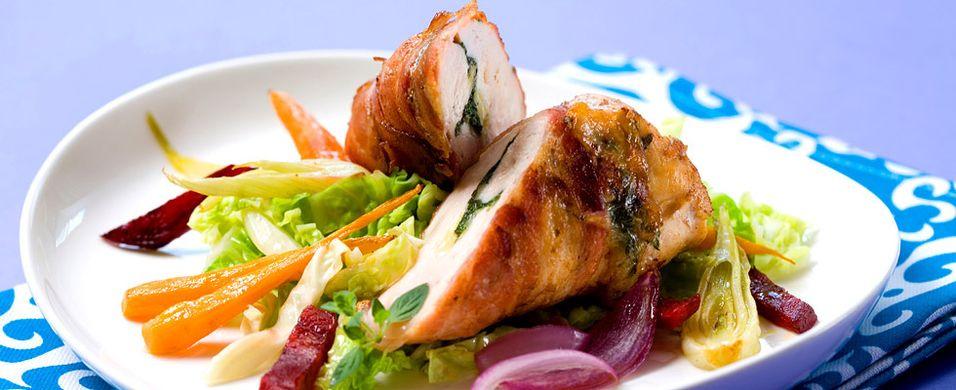 DAGENS RETT: Fyll kyllingfileten med godsaker