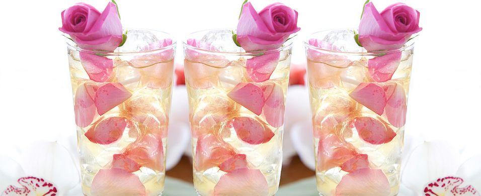 Romantisk mojito med rose
