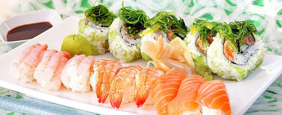 Tre sushirestauranter stengt på dagen