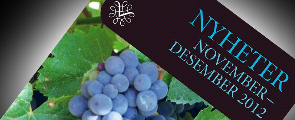 Nyhetene på polet november 2012 – Rødvin