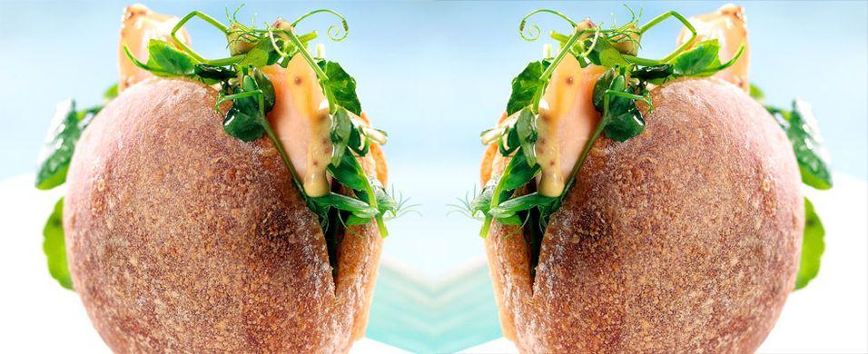 DAGENS RETT: Sandwich med ishavsrøye og brønnkarse