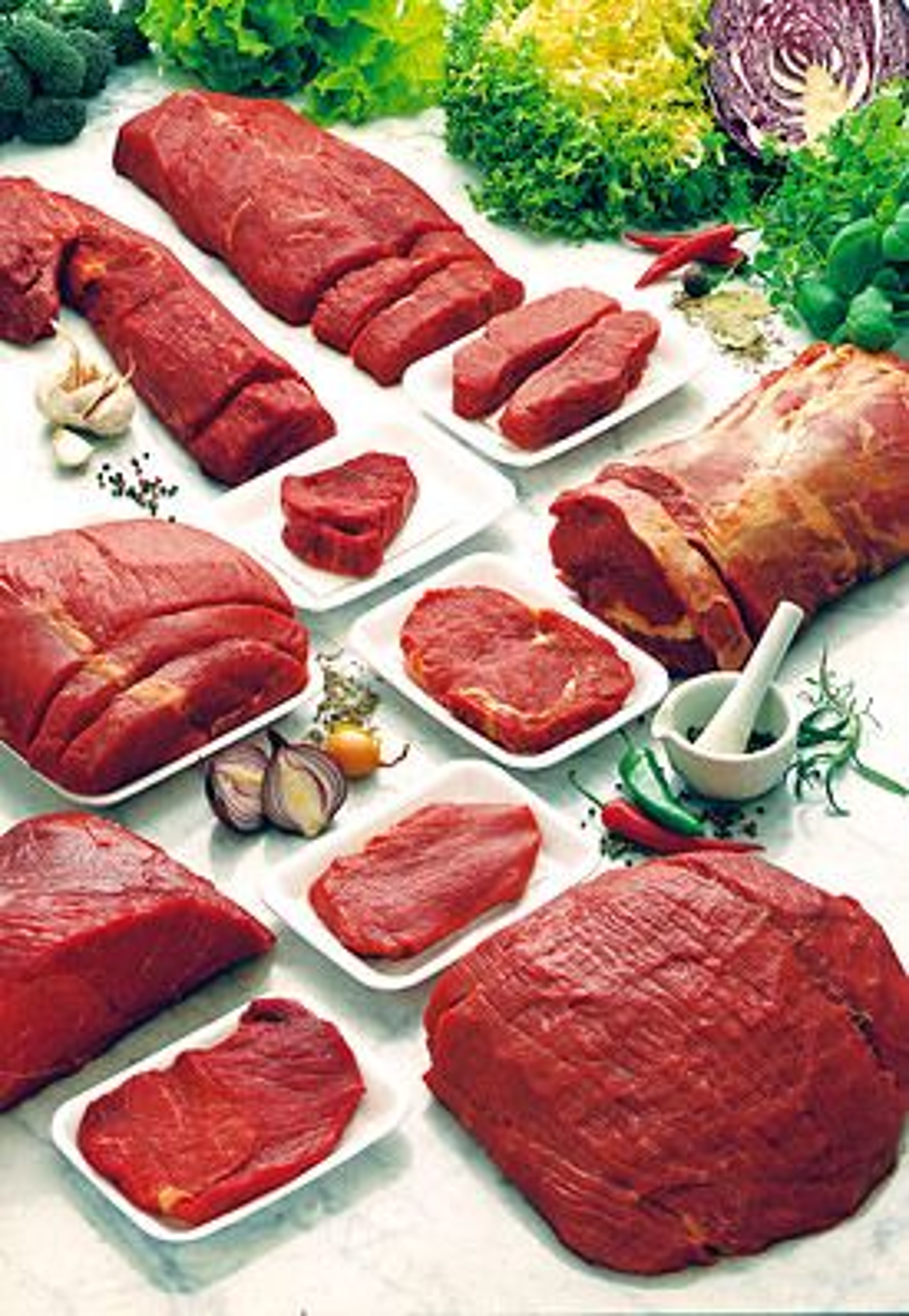 Forskjellige typer kjøtt
