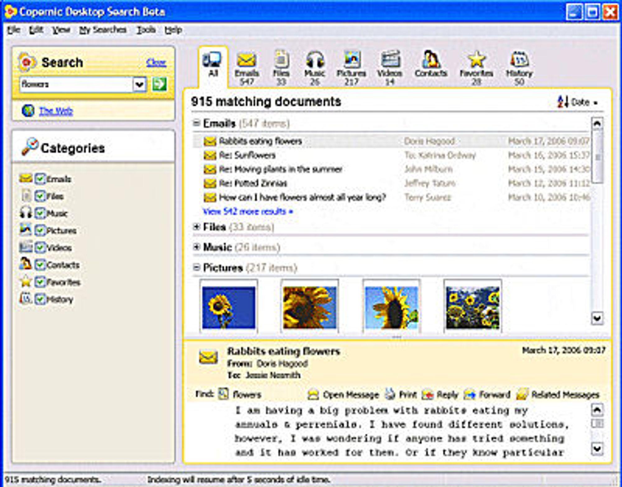 Copernic Desktop Search 2.0 Beta
