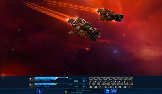 Du begynner med to fregatter men kan raskt utvide flåten. En av lederne du kan spille som, gir deg et ekstra skip i bonus!