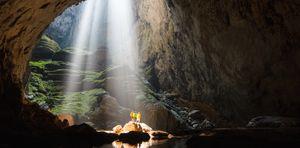 Åpningen slipper mye lys inn i hula.