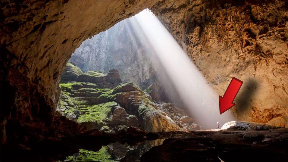 Filmet med drone i verdens største hule