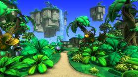Konseptkunst av en av verdenene i «Project Ukulele».