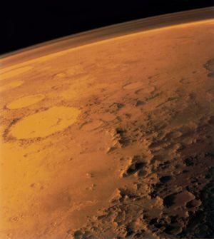 Bilde av Mars tatt av Viking-sonden i 1976.