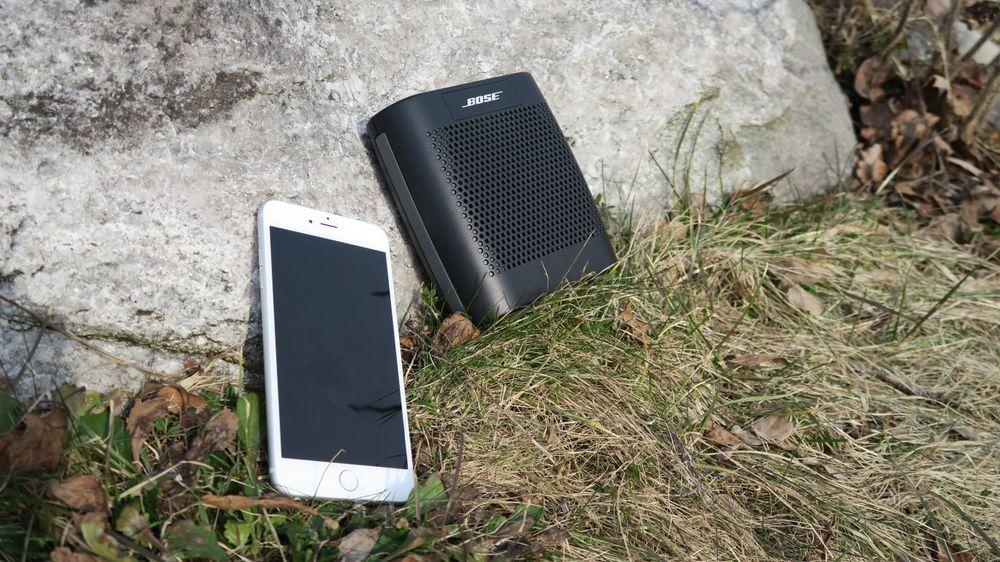 Du kan ta med mobilen et stykke unna høyttaleren uten at signalet forstyrres.