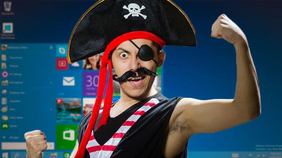 Illustrasjonsbilde av det vi antar er en Windows-pirat.