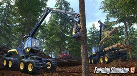 Tømmerhogst er ein av mange ting du kan bryne deg på som bonde.