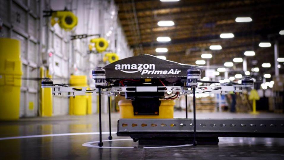 Amazon vil levere pakker med droner