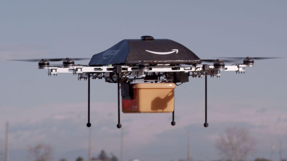 Er det en fugl? Er det et fly? Nei, det er en drone fra Amazon.
