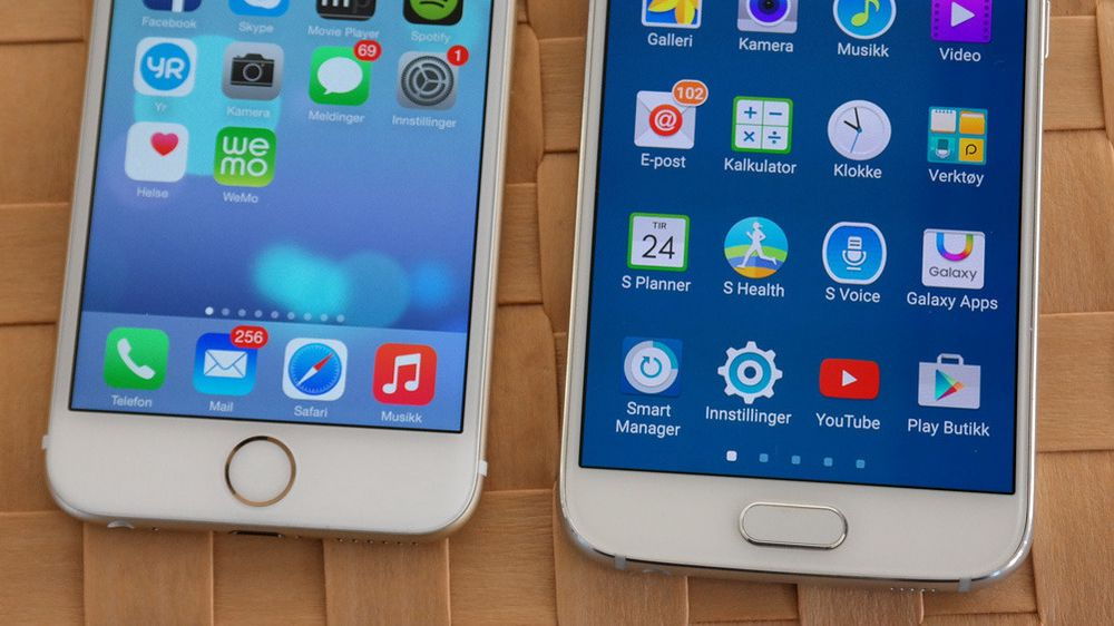 Er Galaxy S6 for lik iPhone 6?