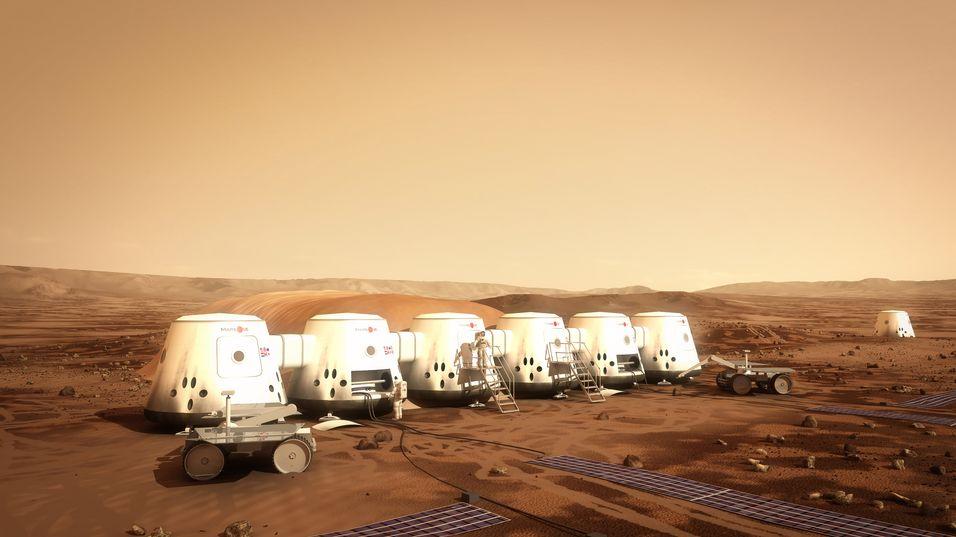 Slik ser Mars One for seg at den første Mars-koloniseringen vil starte.